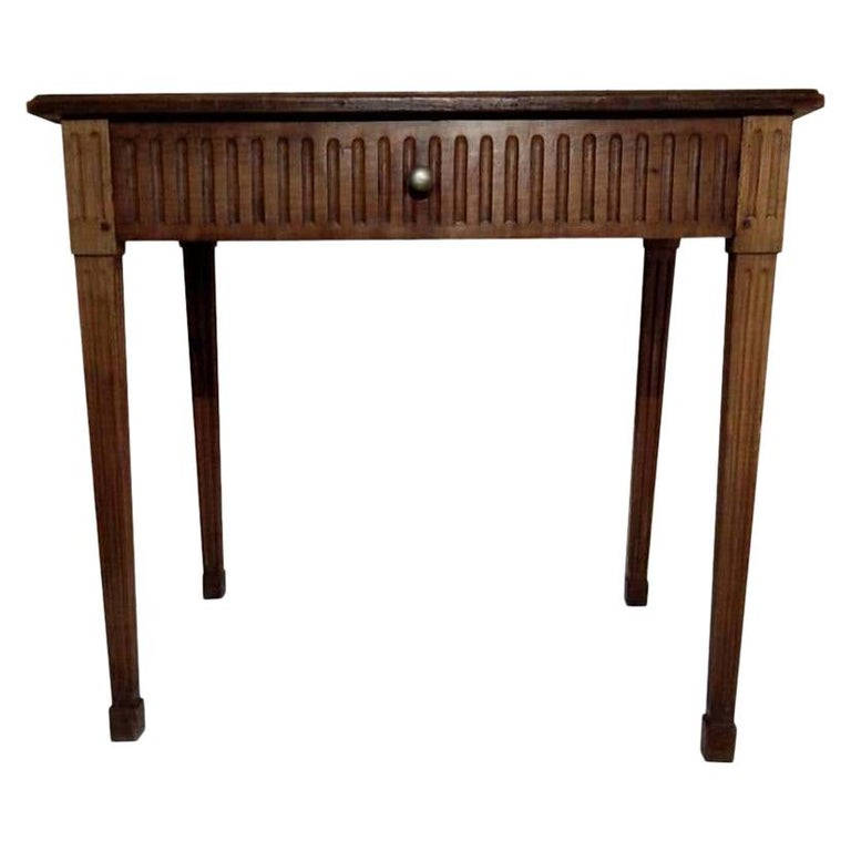 French Louis XVI Light Walnut Table, Mid-18th Century For Sale