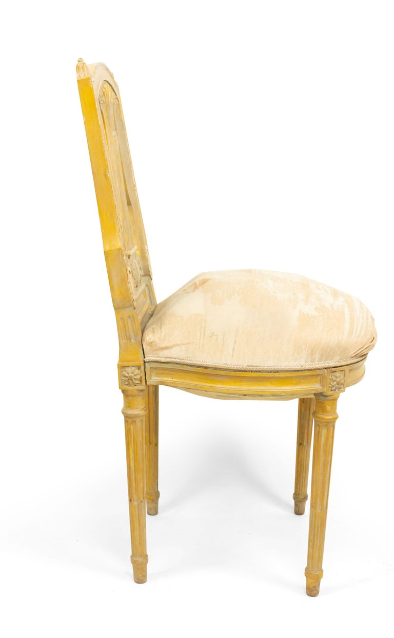 Carved French Louis XVI Lyre Side Chairs For Sale