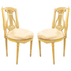 French Louis XVI Lyre Side Chairs