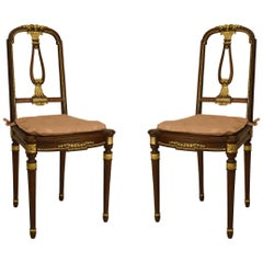 French Louis XVI Mahogany Side Chairs