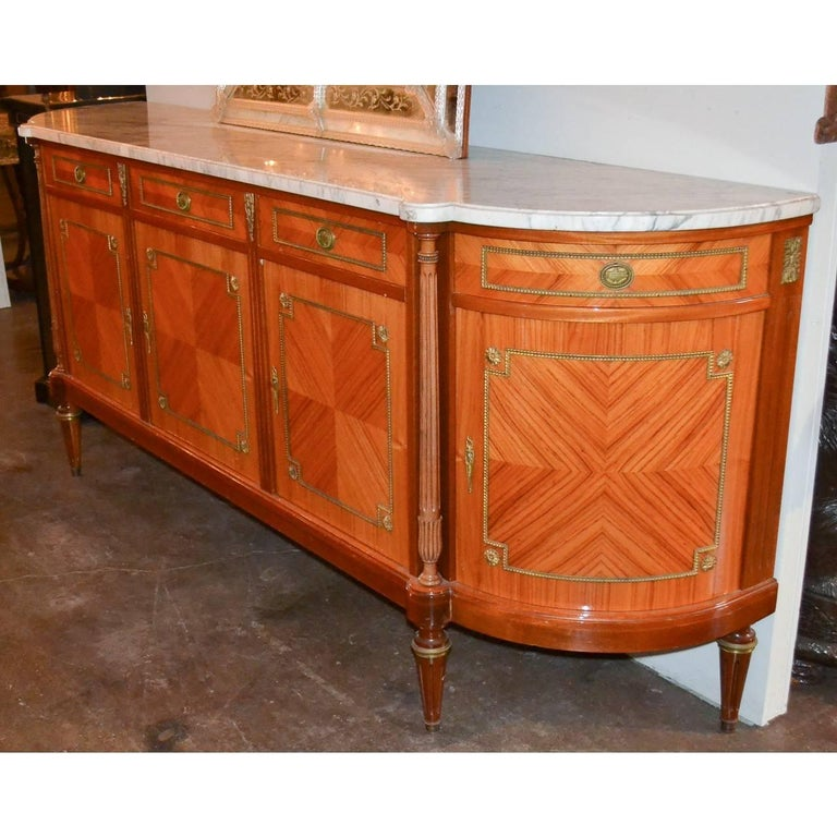 French Louis XVI Marble-Top Sideboard In Good Condition For Sale In Dallas, TX