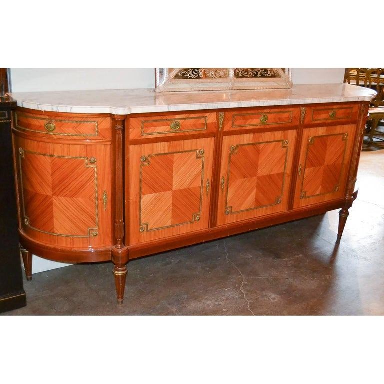 French Louis XVI Marble-Top Sideboard For Sale 1