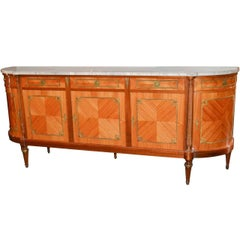 French Louis XVI Marble-Top Sideboard