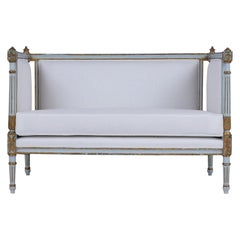 French Louis XVI Painted Sofa