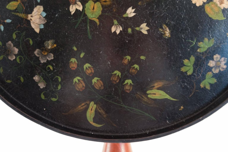 French Louis XVI Period Pedestal Table and Painted Iron Top, circa 1775-1785 For Sale 1
