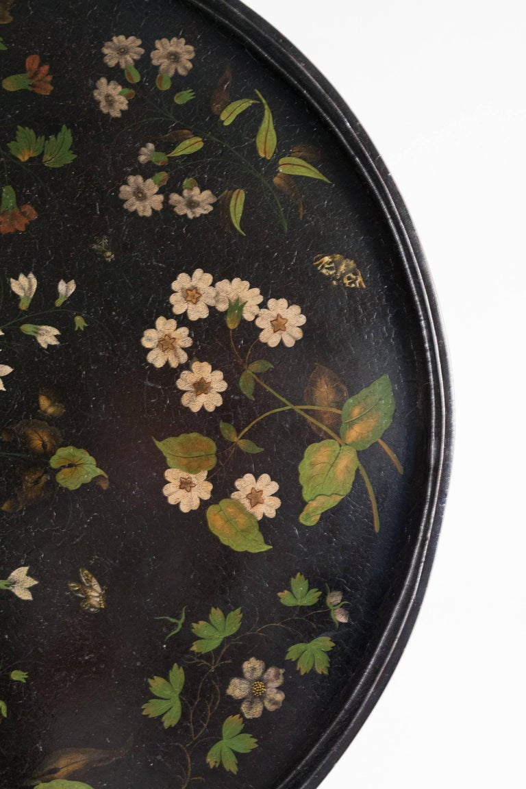 French Louis XVI Period Pedestal Table and Painted Iron Top, circa 1775-1785 For Sale 2