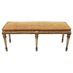 French Louis XVI Polychrome Long Bench