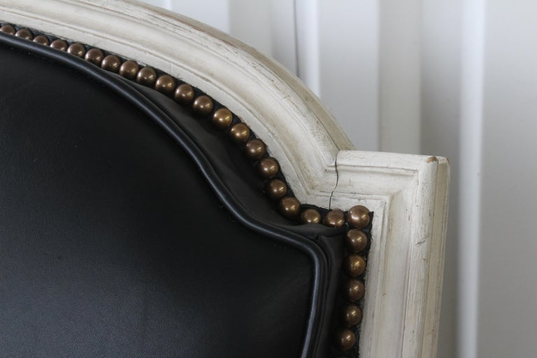 French Louis XVI Sofa in Leather For Sale 2