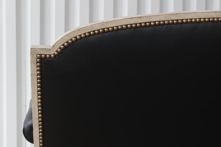 French Louis XVI Sofa in Leather For Sale 3