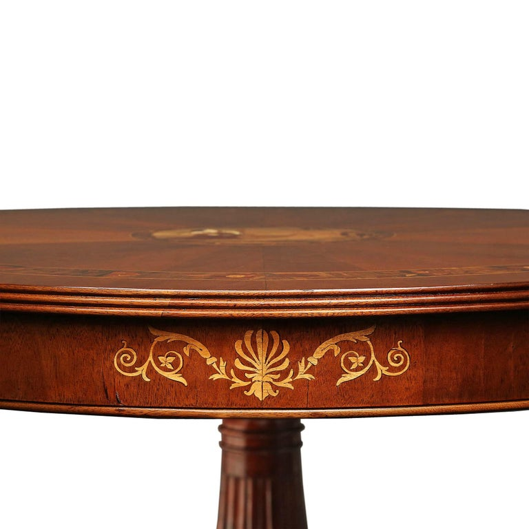 French Louis XVI Style 19th Century Center Table In Excellent Condition For Sale In West Palm Beach, FL