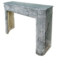 French Louis XVI St. 'Gris St. Anne' Marble Mantel
