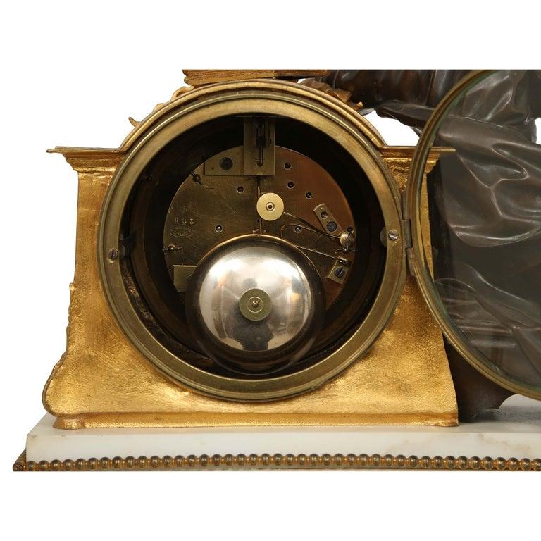 French Louis XVI St. Mid 19th Century Mantel Clock Signed 'Jean' Paris For Sale 2