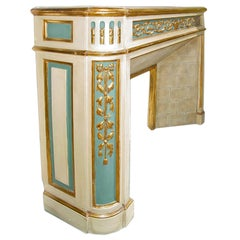 French Louis XVI St. Mid-19th Century Mantle in Giltwood and Patinated Wood