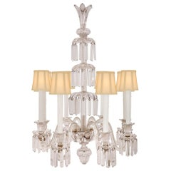 French Louis XVI Style 19th Century Eight-Arm Crystal Chandelier