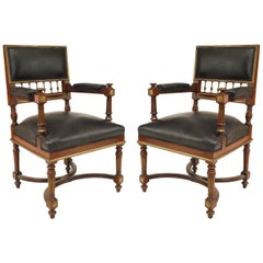 French Louis XVI Style '19th Century' Mahogany Armchairs