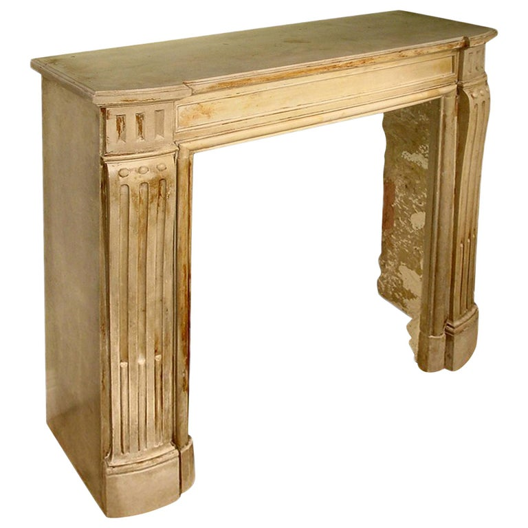 French Louis XVI Style 19th Century Stone Mantel For Sale