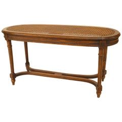French Louis XVI Style '19th Century' Walnut Oval Shaped Bench