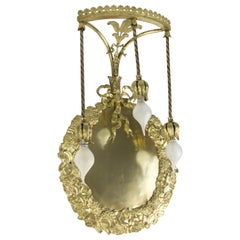French Louis XVI Style Bronze and Brass Three-Light Wall Sconce, 1900s
