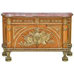 French Louis XVI Style Bronze Mounted Commode
