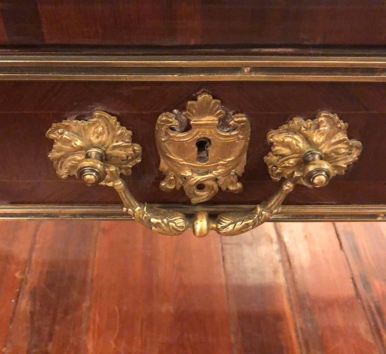 19th Century French Louis XVI Style Bureau Plat For Sale