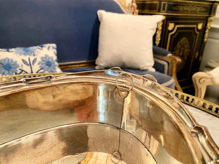 French Louis XVI Style Centerpiece in Silvered Bronze, 19th Century For Sale 12
