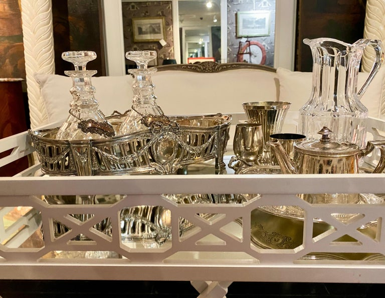 French Louis XVI Style Centerpiece in Silvered Bronze, 19th Century For Sale 16