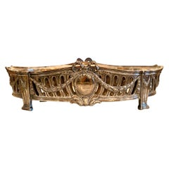 French Louis XVI Style Centerpiece in Silvered Bronze, 19th Century