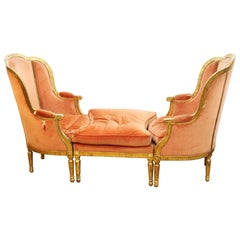 French Louis XVI Style Chaise Longue