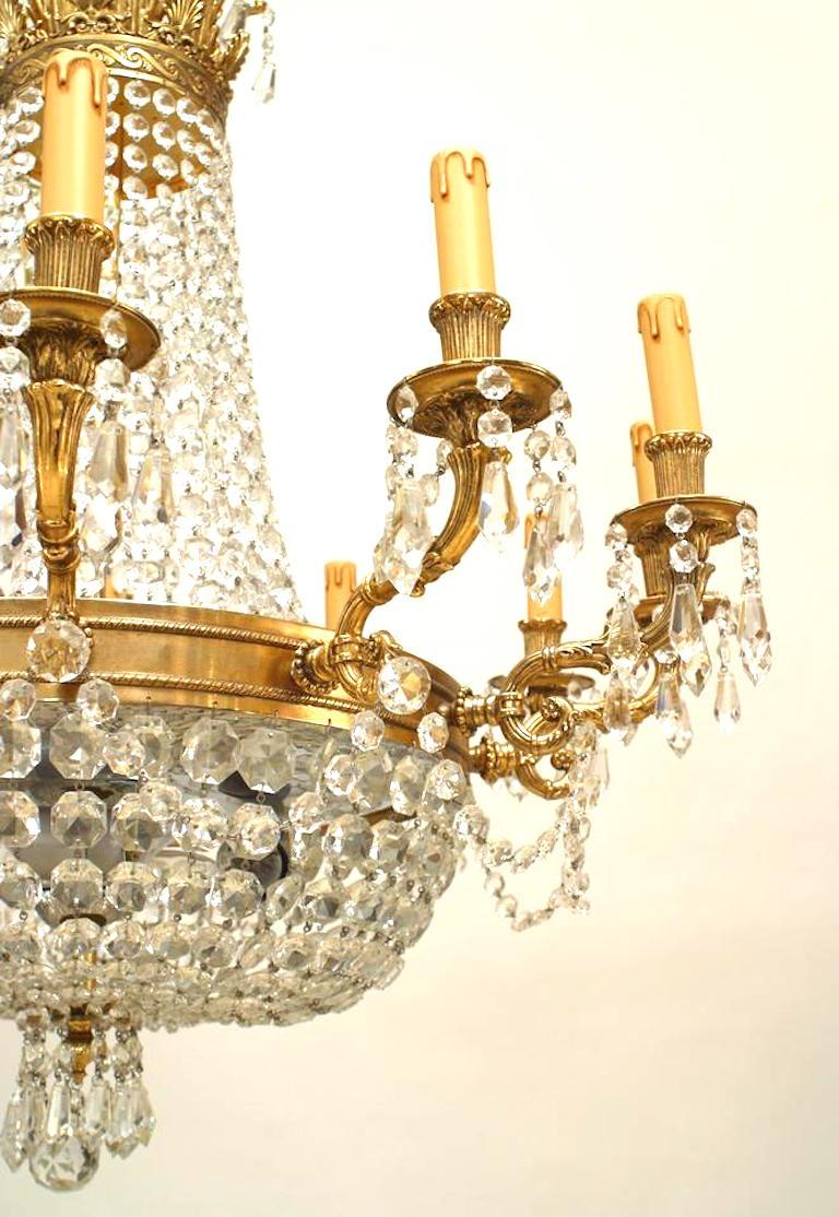 French Louis XVI Style Chandelier In Good Condition For Sale In New York, NY