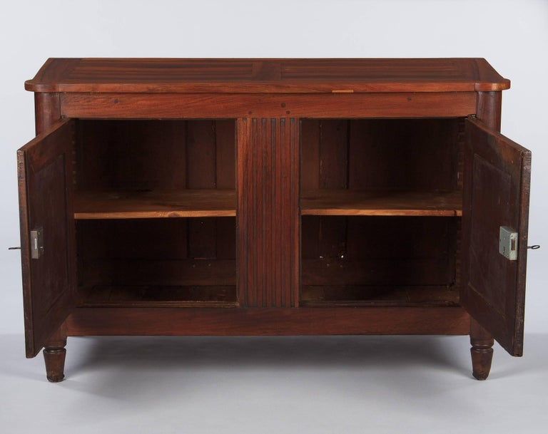 French Louis XVI Style Cherrywood Buffet, 19th Century In Good Condition For Sale In Austin, TX