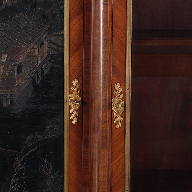 French Louis XVI Style Chinoiserie Three-Door Bookcase or Armoire 'L. Bontemps' For Sale 3
