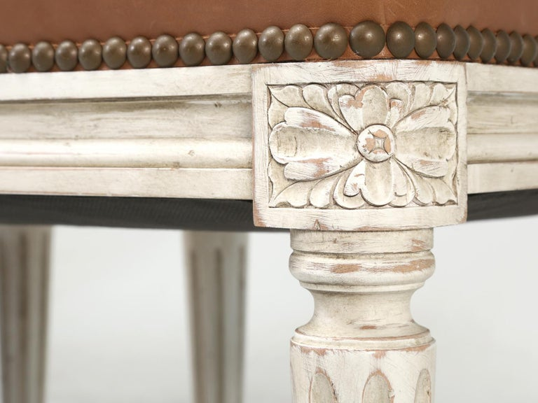 French Louis XVI Style Dining Chairs Handmade in France to Our Specifications For Sale 5