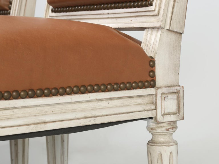 French Louis XVI Style Dining Chairs Handmade in France to Our Specifications For Sale 6