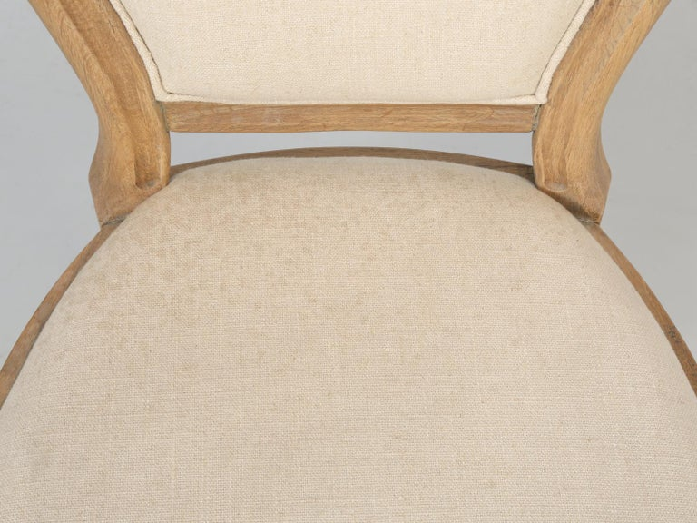 French Louis XVI Style Dining Chairs in White Oak, Set of 8 For Sale 2