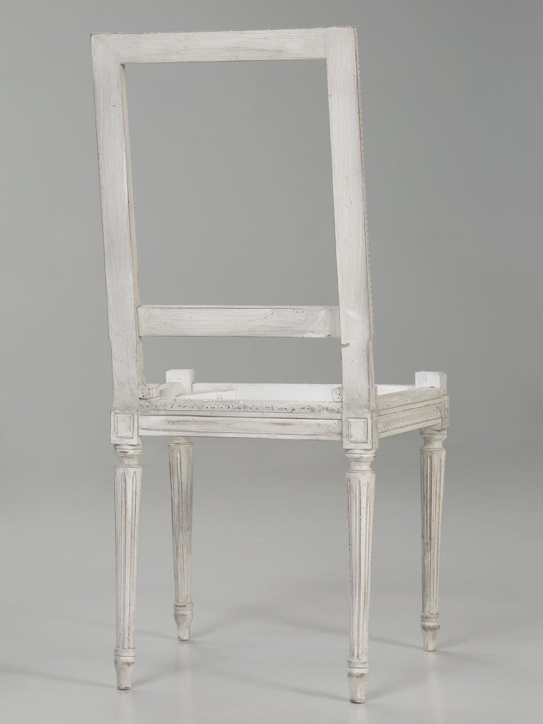 French Louis XVI Style Dining Side Chairs Structurally and Cosmetically Restored 14