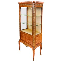 French Louis XVI Style Display Cabinet, after Francoise Linke