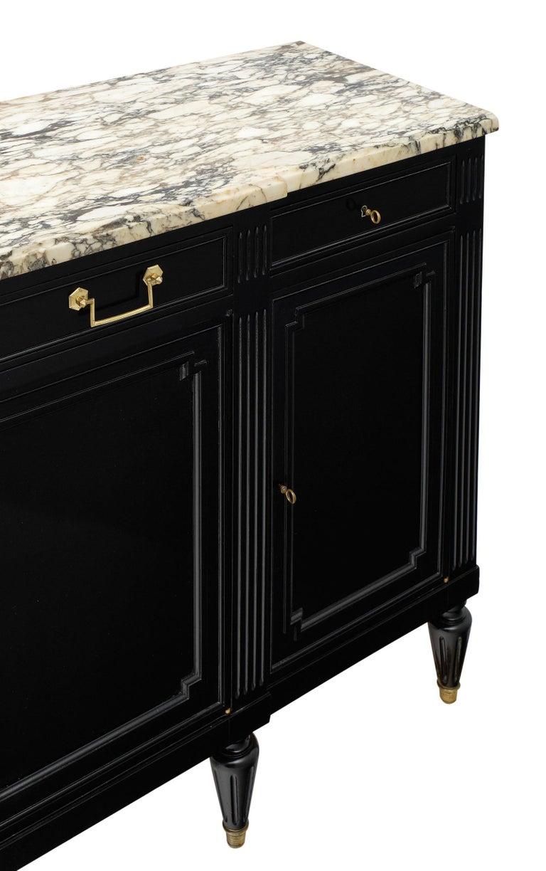 Early 20th Century French Louis XVI Style Ebonized Buffet