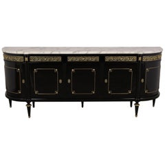 French Louis XVI Style Ebonized Buffet