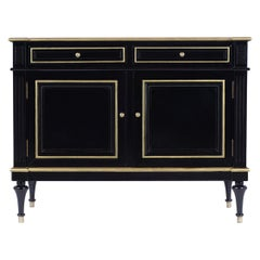 French Louis XVI Style Ebonized Cabinet
