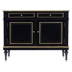 French Louis XVI Style Ebonized Cabinet