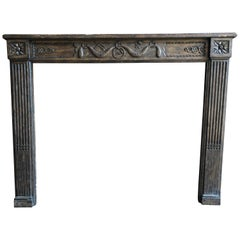 French Louis XVI Style Fireplace Mantel