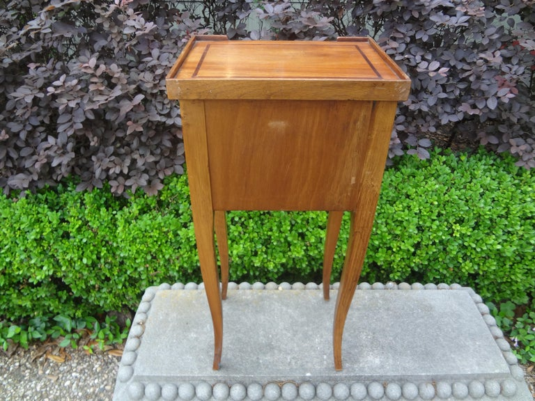 French Louis XVI Style Fruitwood Table or Nightstand For Sale 5