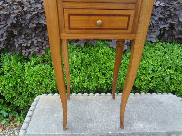French Louis XVI Style Fruitwood Table or Nightstand For Sale 6