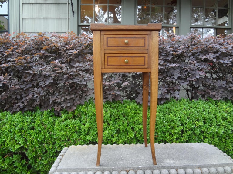 French Louis XVI Style Fruitwood Table or Nightstand For Sale 7