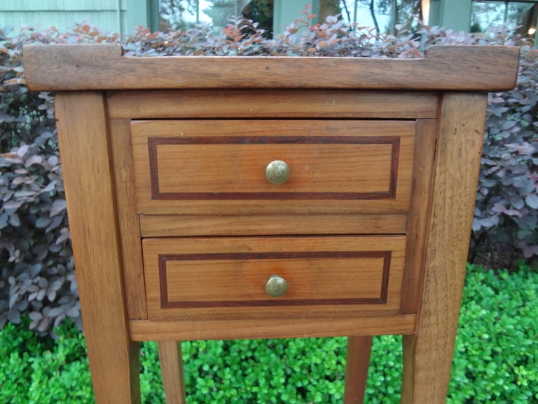European French Louis XVI Style Fruitwood Table or Nightstand For Sale