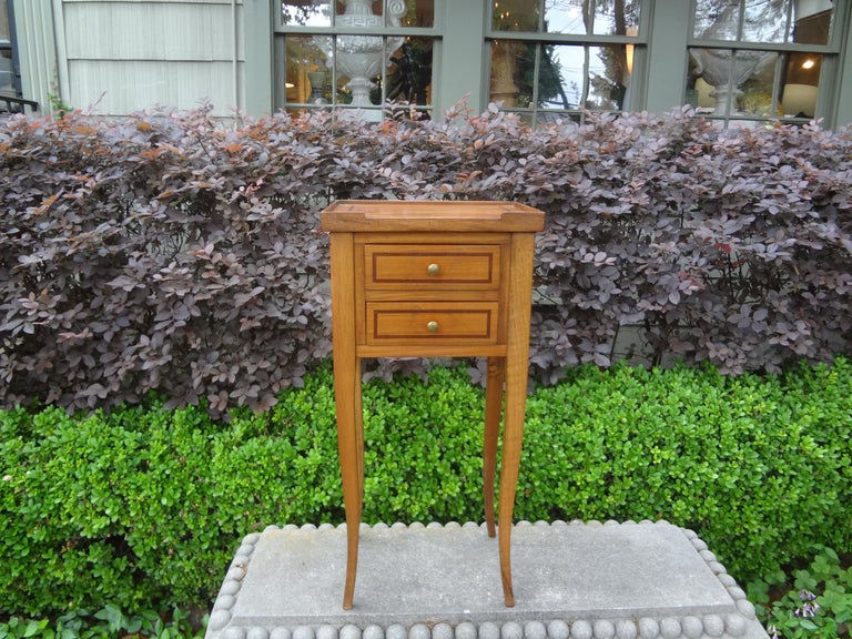 French Louis XVI Style Fruitwood Table or Nightstand For Sale 1