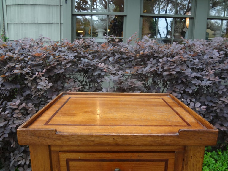 French Louis XVI Style Fruitwood Table or Nightstand For Sale 2