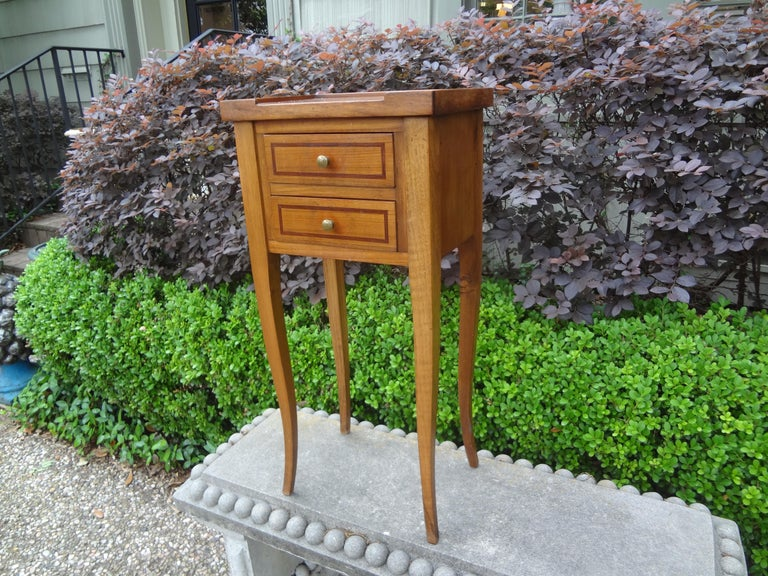 French Louis XVI Style Fruitwood Table or Nightstand For Sale 3