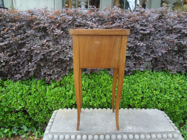 French Louis XVI Style Fruitwood Table or Nightstand For Sale 4