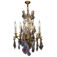 French Louis XVI Style Gilt-Bronze and Baccarat Crystal Chandelier, circa 1880